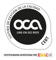 Certificado OCA Iso 9001